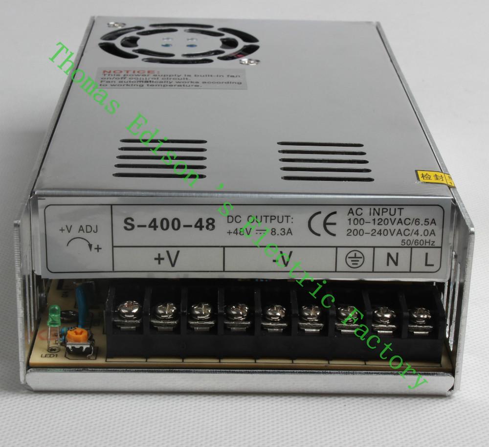 High Quality Power Supply 48V 400W AC to DC Power Supply AC DC Converter S-400-48<br><br>Aliexpress