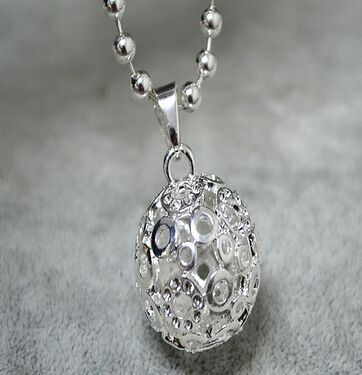 Chime Ball Harmony Silver Mexico Relaxing Sounds Chime Bell 20mm Angel Caller Pendant necklace(China (Mainland))