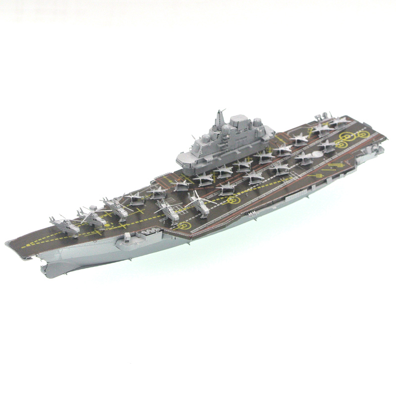 Aircraft Carrier Model Building Kits Toys Liaoning Ship Boats Model DIY Assembly 3D Metal Puzzles Gifts(China (Mainland))
