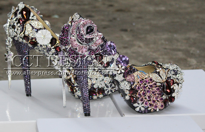 Purple Bling Wedding Shoes Purple Wedding Shoes