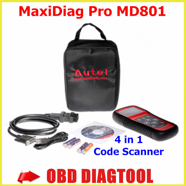 2015 New Multi Functional Scan Tool AUTEL MaxiDiag Pro MD801 4 in 1 Code Scanner MD 801 = JP701 + EU702 + US703 + FR704(China (Mainland))