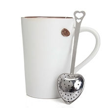 Designer Heart Shape Stainless Steel Tea Infuser Spoon Strainer Steeper Handle Shower Tea Strainer Tool(China (Mainland))