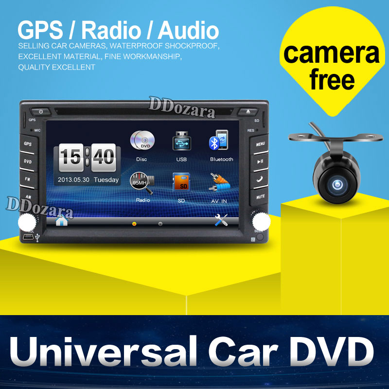 2 din New universal Car Radio Double 2 din Car DVD Player GPS Navigation In dash Car PC Stereo video Free Map Car Electronics(China (Mainland))