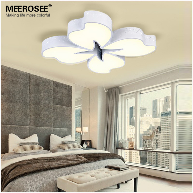 54 watt White Metal Base LED Ceiling Light Flower Fancy Lamp for Dinning Room Bedroom Surface Mounted led light bulbs included(China (Mainland))