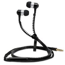 Super Bass Clear Voice Zipper Earphone Metal In-ear Headphones Mobile Computer MP3/4 Universal 3.5MM Audio Sound Freeshipping