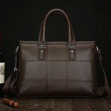Guaranteed 100% PU leather briefcases men leather briefcases men shoulder bag 2015 fashion handbag man(China (Mainland))