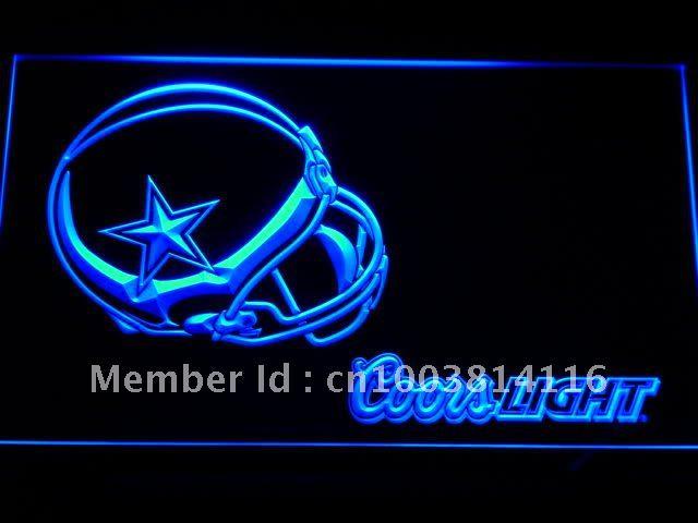 b458-b Dallas Cowboys Helmet Coors LED Neon Light Sign(China (Mainland))