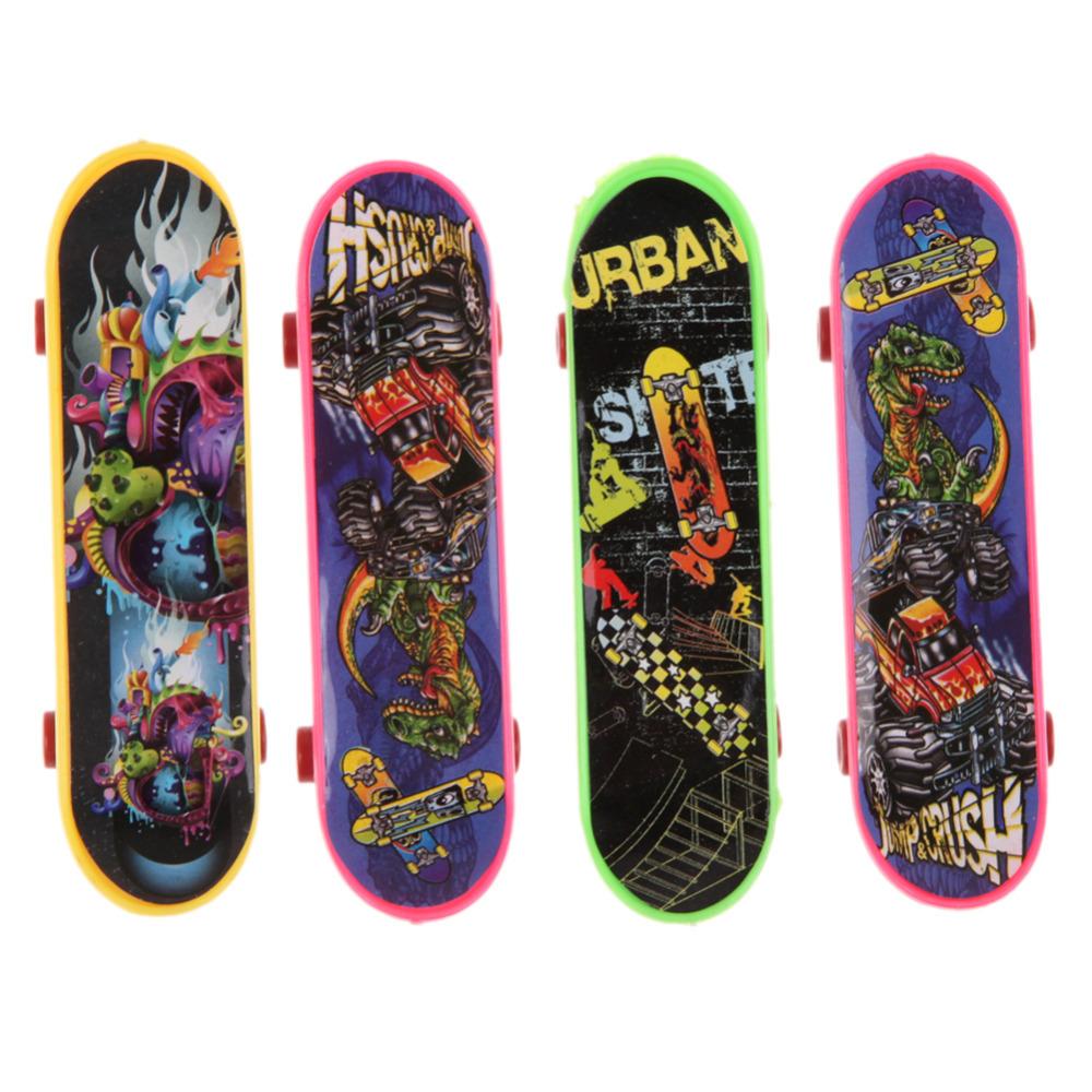 Гаджет  4PCS Finger Board  Truck Mini Skateboard Toy Boy Kids Children Gif None Игрушки и Хобби