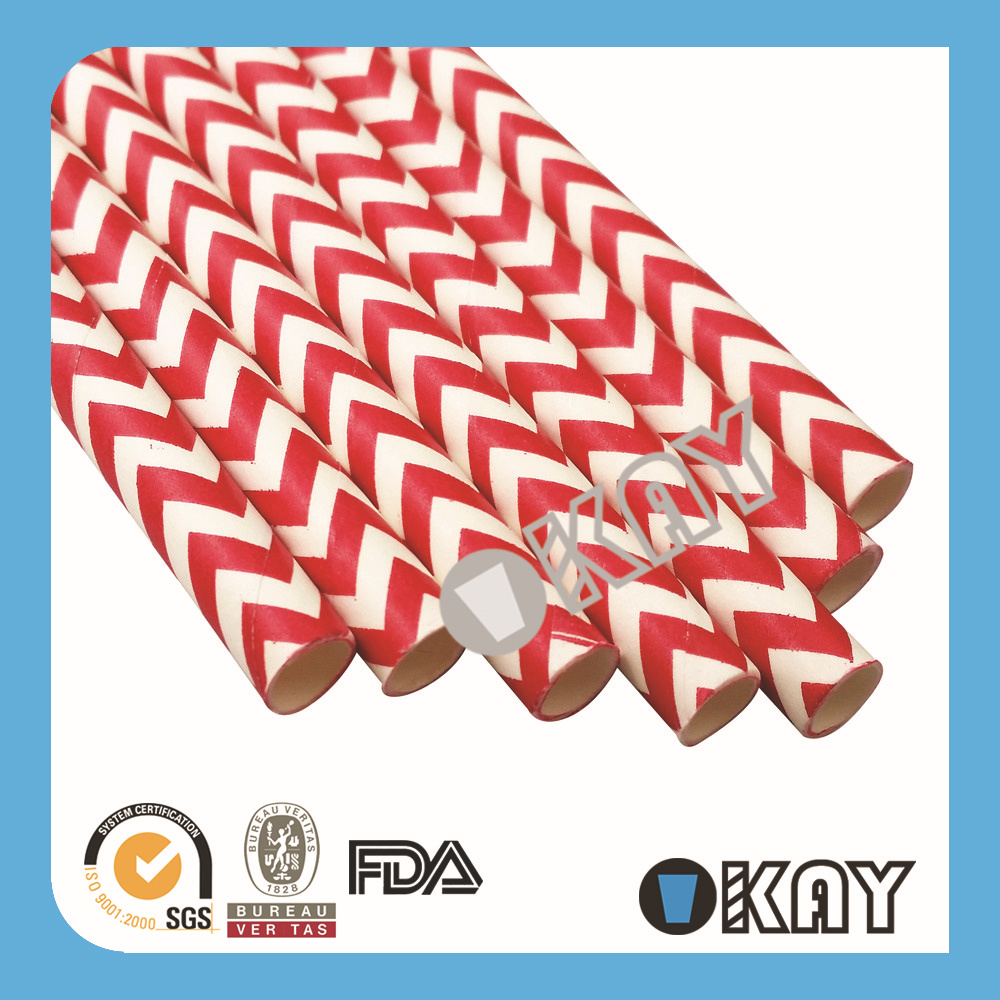 Free Shipping Cheap Paper Straws WeddingTea Party Straws Chevron Paper Straws Eco paper StrawsRecycled 1000PCS(China (Mainland))