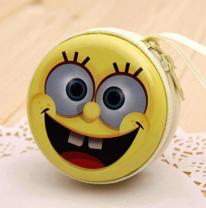 Coin purse Headphone Case Minions Pouch Carry Bag kawaii purse hard box Key kids Wallet Cute Cartoon Storage Box bags children(China (Mainland))