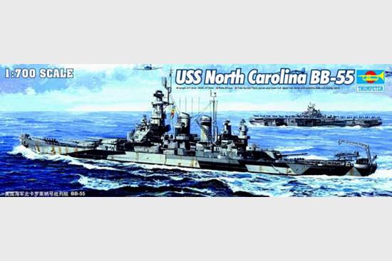 Trumpeter ships model in North Carolina 05734 US battleship BB-55(China (Mainland))