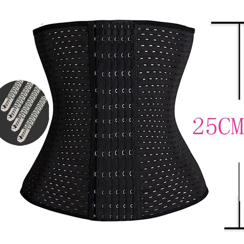 Plus Size Gothic Clothing Underbust Bustier Slimming Body Shapers Shapewear Cincher Steel Boned Waist trainer Corset Black 3XL(China (Mainland))