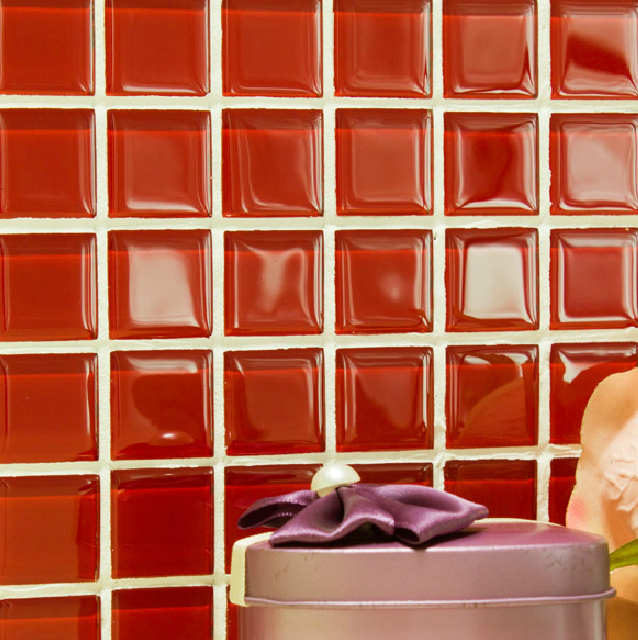red glass backsplash tile kitchen mosaic designs cheap