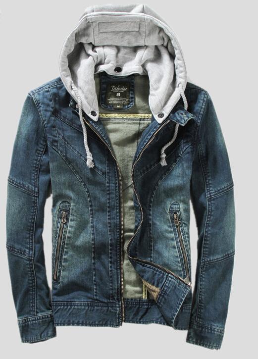 Mens Jean Jacket With Hood