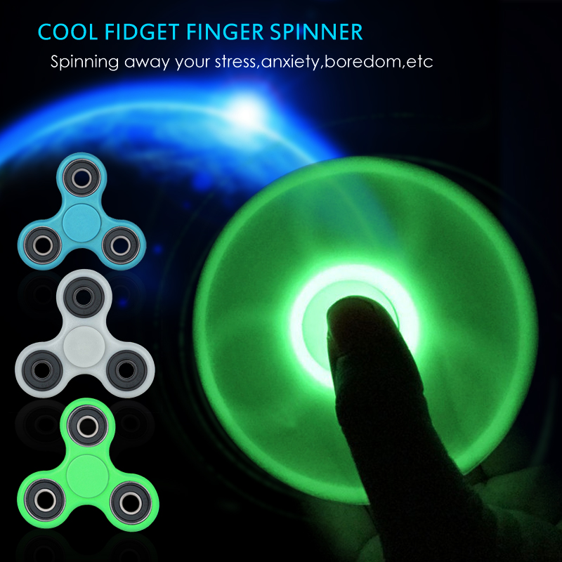Luminous Fidget Spinner Hand Spinner EDC Tri-Spinner Autism ADHD Kids / Adult Funny Anti Stress Child Finger Toys 11 Colors