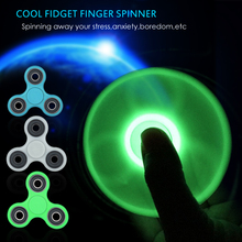 Buy Luminous Fidget Spinner Hand Spinner EDC Tri-Spinner Autism ADHD Kids / Adult Funny Anti Stress Child Finger Toys 11 Colors for $2.60 in AliExpress store