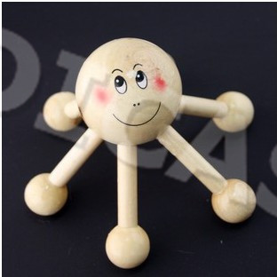 Health Care Mini  Wooden Head Massger  Wooden Body Massager