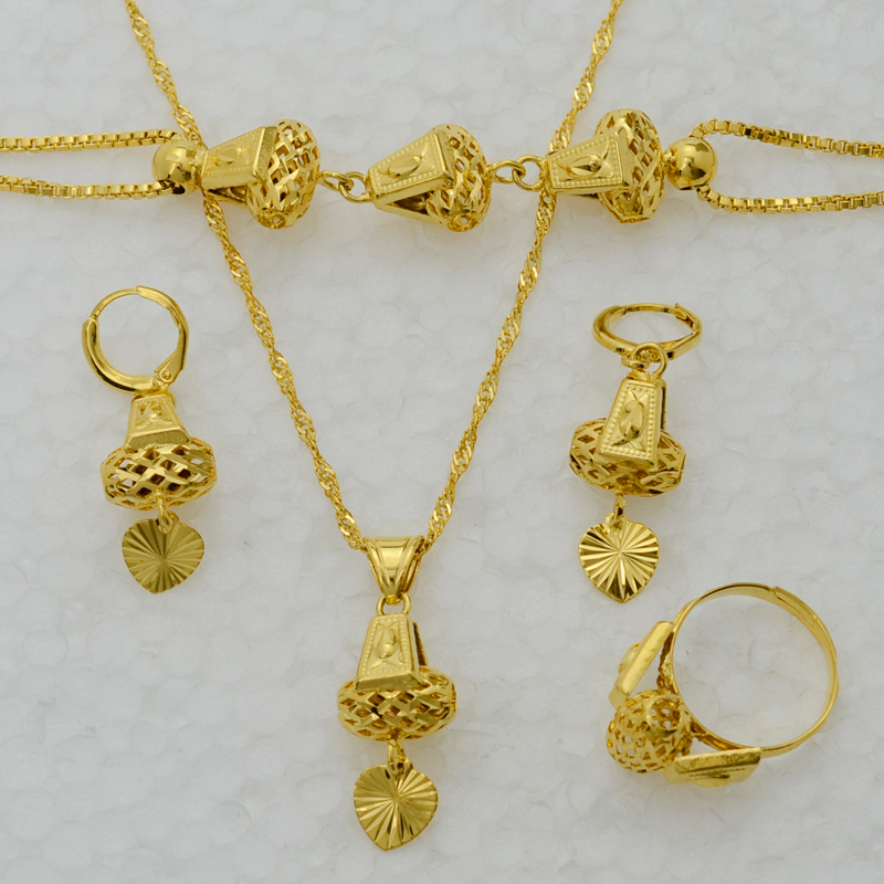 gold necklace bracelet earrings set images