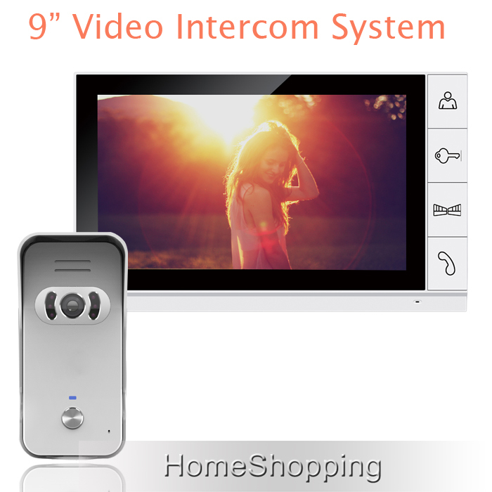 FREE SHIPPING New 9 inch Color TFT LCD Monitor Video Door Home Phone Intercom System With Night Vision Doorbell Camera IN STOCK(China (Mainland))