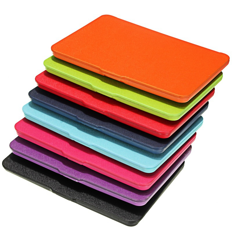 Top Quality 8 Colors Luxury Ultra Slim PU Leather Smart Magnetic Ebook Cover Case Cover For Amazon Kindle Paperwhite 1/2<br><br>Aliexpress