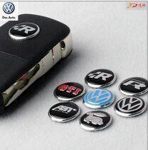 Car logo auto Key Emblem button Sticker for Volkswagen VW POLO Tiguan Passat B5 B6 B7 Golf MK6 EOS Scirocco Jetta MK5 MK6(China (Mainland))
