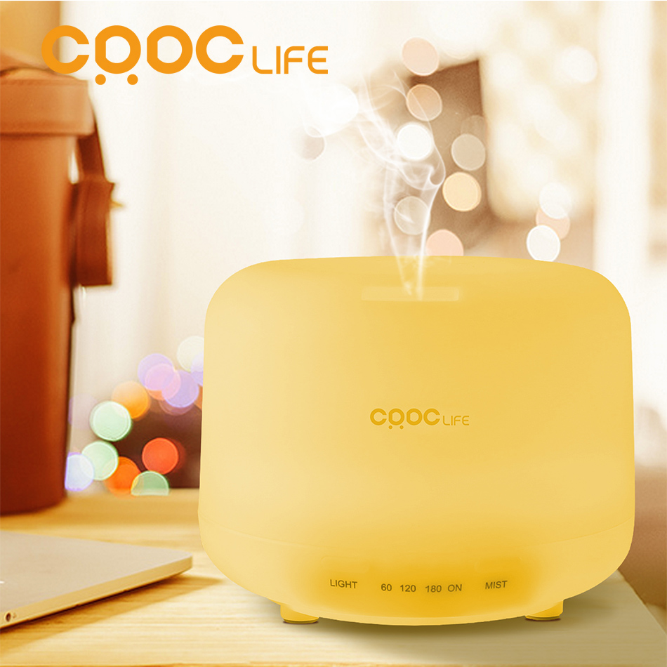 CRDC LIFE 500ml LED light 7 Color Change dry protect Ultrasonic Essential Oil Aroma Diffuser Air Humidifier Mist Maker(China (Mainland))