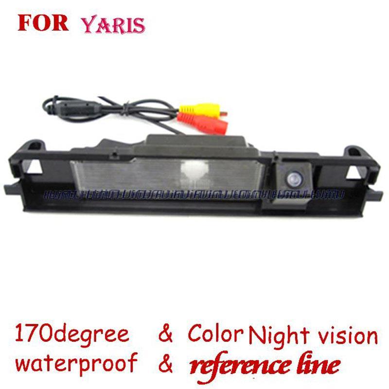 wire wireless Car Rear View reverse backup Camera for Toyota YARIS 2006-2012/Vitz cars(China (Mainland))