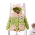 Children thick winter coat coat 2016 female cartoon baby fleece hooded padded jacket