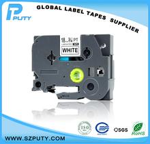 Compatible TZ TZe tape 18mm black on white tz-241 tze-241 for p touch label printer