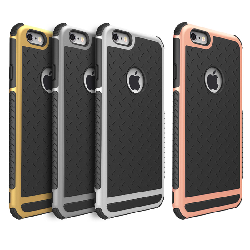 Hybrid Shockproof Phone Case For iPhone 7 6 6s 5S 5 SE Coques Silicone Rugged Matte Hard Cover Fundas For iphone 7 6 6s Plus