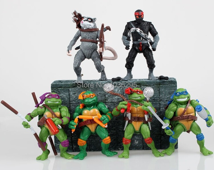 HOT 6 pieces/set 12cm Anime Cartoon TMNT 87 Teenage Mutant Ninja Turtles PVC Action Figure Toys Dolls - United States Good Service Best Price store