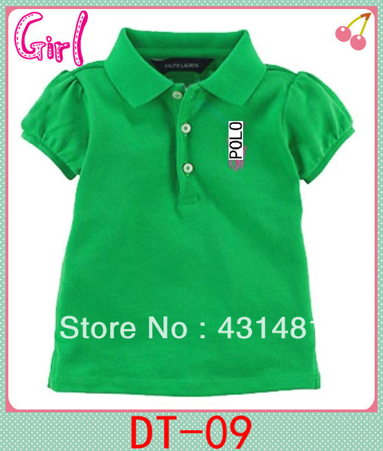 Free shipping summer children ensemble fashion baby girl POLO shirt 2014 new design beautiful clothing brand(China (Mainland))