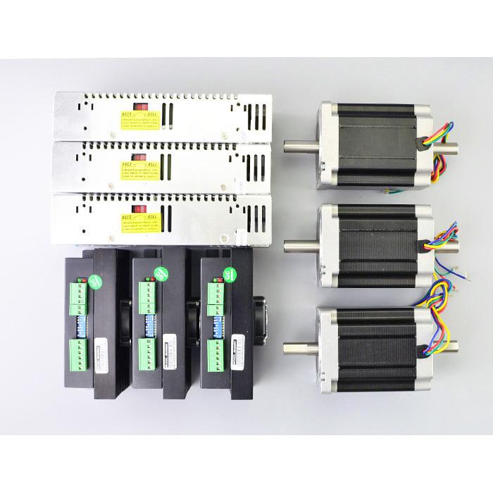 3 axis cnc kit 8 5nm nema 34 stepper motor for Nema 34 stepper motor driver