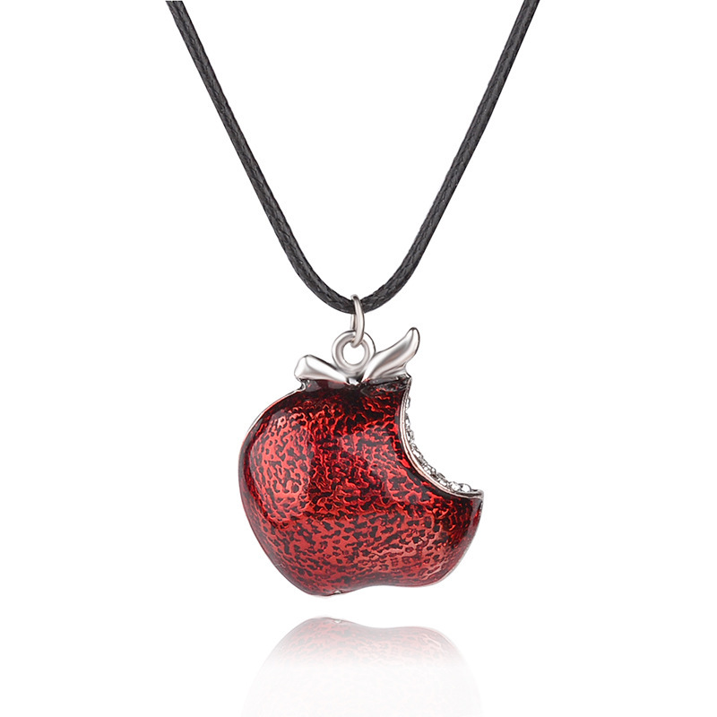 The Television Once Upon a Time Regina Mills Red Apple Crystal Pendants & Necklace Charm Necklace Collar Women Accesorios Mujer(China (Mainland))
