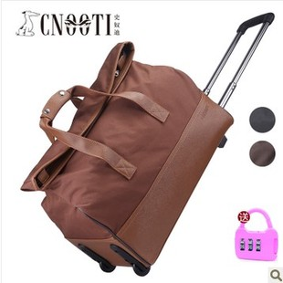 """Free shipping quality commercial trolley luggage waterproof nylon travel bag large capacity portable luggage20""""(China (Mainland))"""