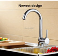 Free shipping Good quality Modern kitchen faucet brass chrome single lever single hole hot and cold
