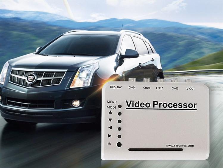 (New Arrival)4-CH Channel DVR CCTV Quad Video Camera Processor System kit Splitter Switcher AV Connector(China (Mainland))