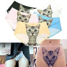sexy pussycat panties womens calcinha Cat briefs anti emptied cat meow star cat silk women underwear brief panty(China (Mainland))