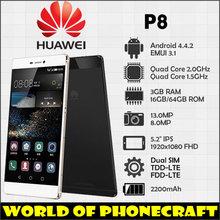 Huawei P8 четырехъядерный Core3GB оперативной памяти 16 ГБ / 64 ГБ ROM глонасс GPS 13MP FDD LTE мобильный телефон