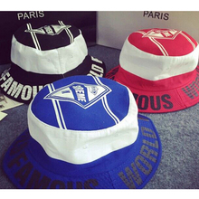 Hot Sale 2015 Top Design White Ring SUPREME Pattern Bucket Hat Fashion Outdoor Casual Fishing Hat Bucket Hat   Hip Hop(China (Mainland))