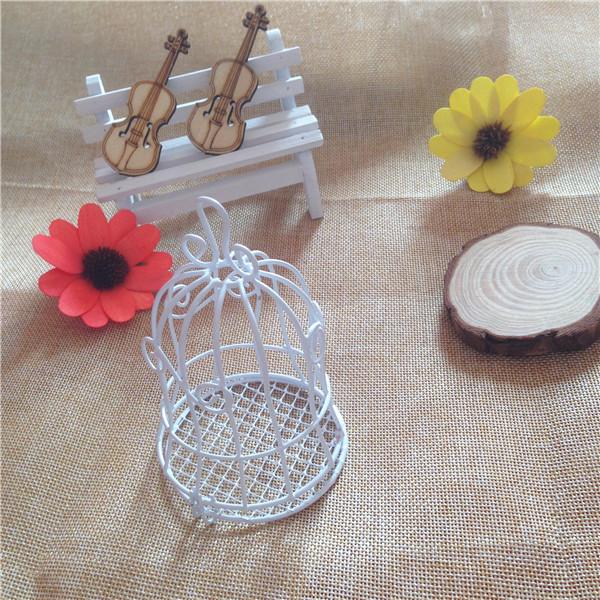 Caixa de doces de casamento de sonho 30 pçs/lote Metal gaiola de pássaro branco presentes de casamento favores titular do cartão de casamento de ferro Birdcage caixas de 11 * 7 cm(China (Mainland))
