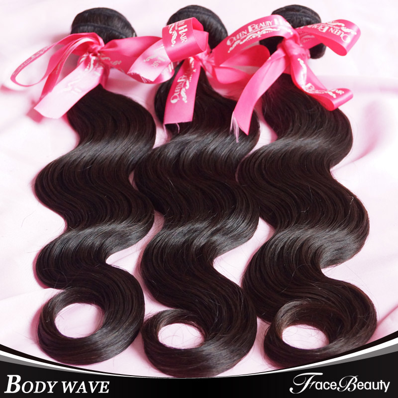 7a Grade Brazillian Virgin Hair Body Wave 3pcs Lot Human Bundles Hair Weft Brazilian Virgin Hair Products,7 Day Return Gurantee(China (Mainland))