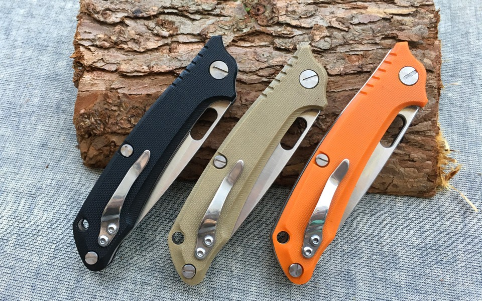 Buy High Quality D2 blade G10 handle 3colors folding knife outdoor camping survival tool hunting tactical EDC knives cheap