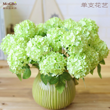 Decorative flower without pot  home decor artificial flower hydrangea  floral artificial high qulity silk flower(China (Mainland))