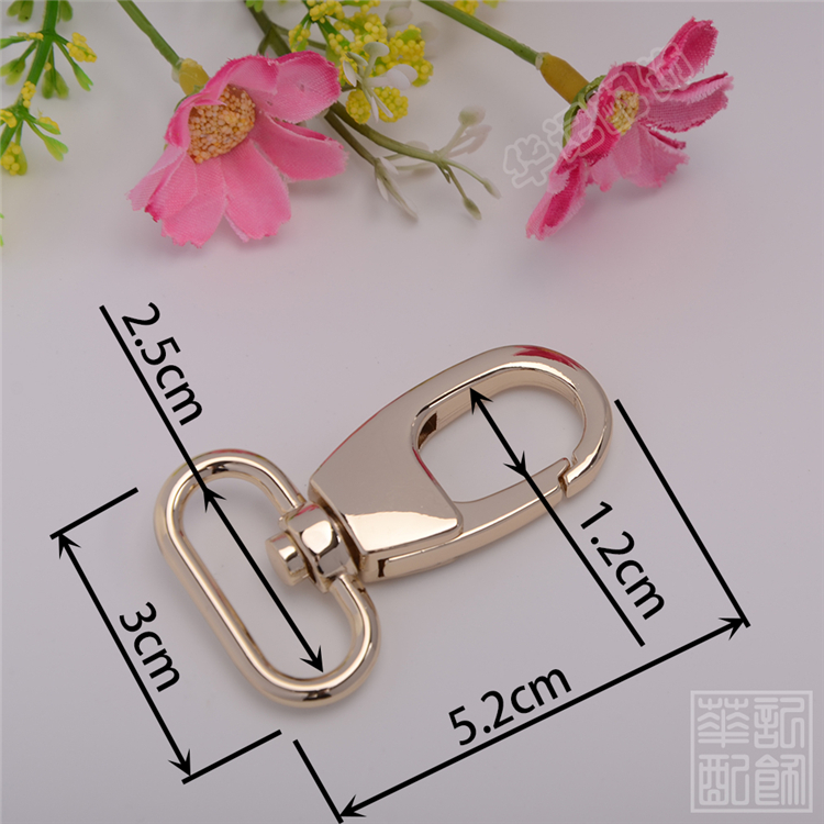 2016 Real Metal Clasps For Purses Replacement Luggage Wheels Luggage Bag Accessories Hook Clasp Dog Handbag Light Gold Hardware(China (Mainland))