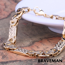 wholesale men gold bracelet