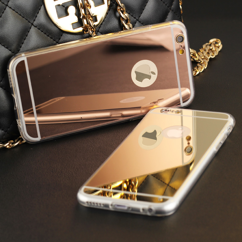 High Quality Fashion Deluxe Electroplating Mirror TPU Clear Soft Back font b Phone b font font