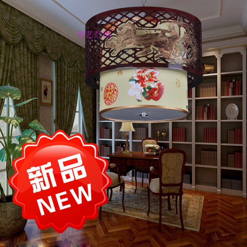 Modern Chinese carved wooden chandelier living room restaurant study bedroom lamp lighting idyllic hotel foyer restaurant(China (Mainland))