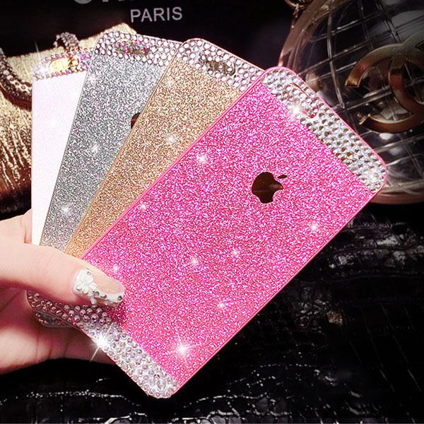 Bling Glitter Hard Case for iPhone 4 4S 5 5S 6 6 plus Luxury Hot-Sale Plastic Crystal rhinestone Diamond Back Cover Capa Para(China (Mainland))