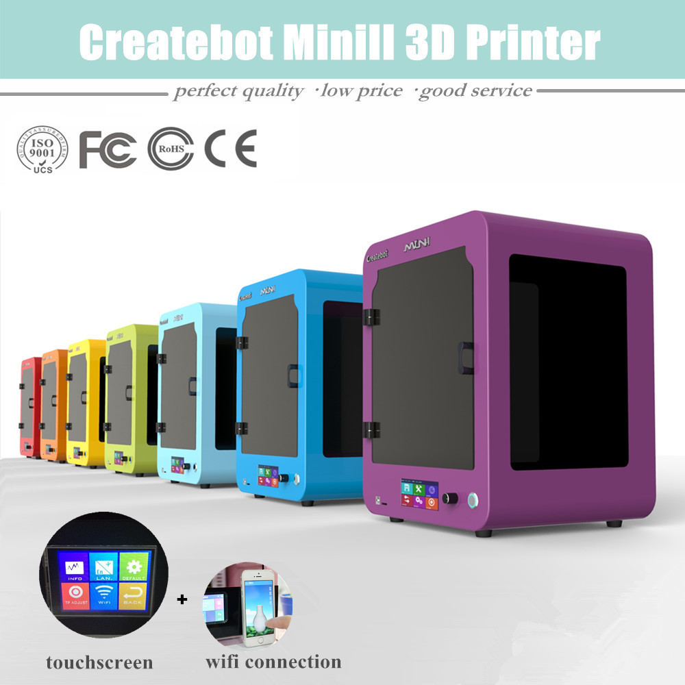 Createbot /& 3D Mini II special price createbot super mini 3d printer sexy purple designed for kids and children english touchscreen sales promotion